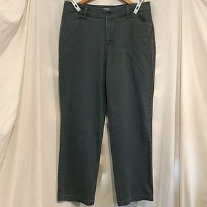 LEE Grey Stretch Relaxed Fit Pants size 14 EUC